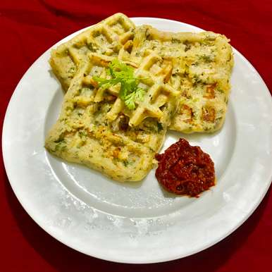 Photo of rava waffle uttapam by Nilanjana Bhaumik at BetterButter