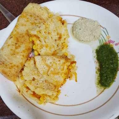 Photo of Corn stuffed dosa by Nilu Rastogi at BetterButter