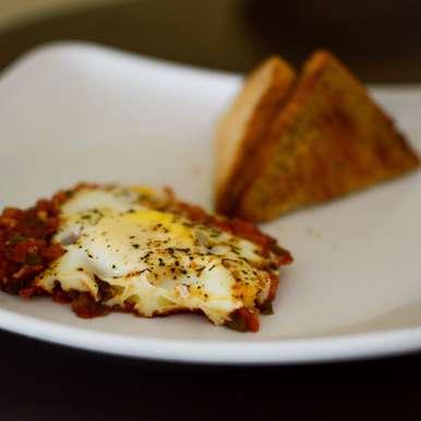 Photo of Poached Egg Carbonara ft. Indian Masala by Nirupam Biswas at BetterButter