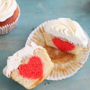 Photo of Valentine's day Surprise inside Cupcakes by Nisha Thomas at BetterButter