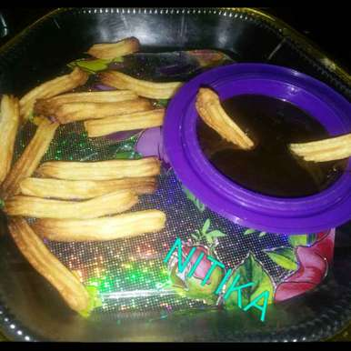Photo of Churros with Chocolate dip by Nitika Ramnani at BetterButter