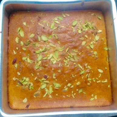 Photo of Eggless Mango cake by Nivedita Asnani at BetterButter