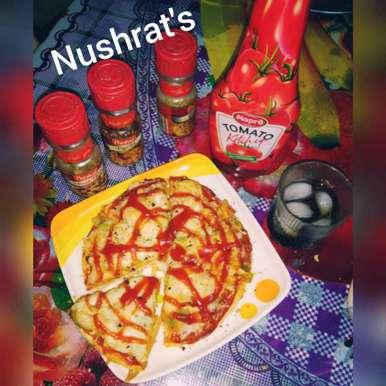 Photo of Cheesy mayo macaroni pizza by Godil Nush at BetterButter