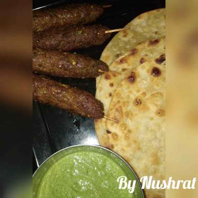 Photo of Seekh paratha with green chutney by Godil Nush at BetterButter