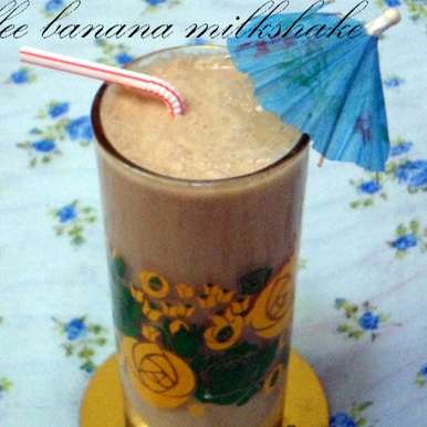 Photo of Coffee banana milk shake by Nusrath Jahan at BetterButter
