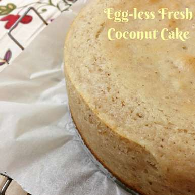 Photo of Eggless Fresh Coconut Cake by Pallavi Purani at BetterButter