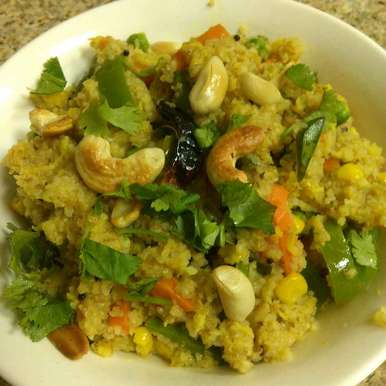 Photo of Broken Wheat And Vegetables Upma by Paramita Majumder at BetterButter