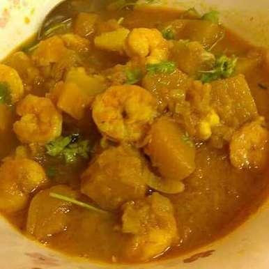 Photo of Prawns and Pumpkin Curry by Paramita Majumder at BetterButter
