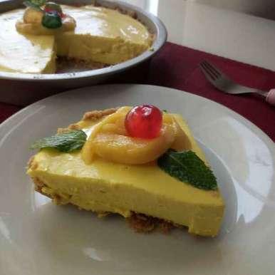 Photo of No Bake Mango Pie by Paramita Majumder at BetterButter