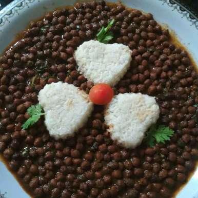 RASILA CHANA BHAT recipe in Gujarati, રસીલા ચણા ભાત, Parul Bhimani
