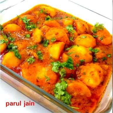 Dum aalu recipe in Hindi,दम आलू, Parul Jain