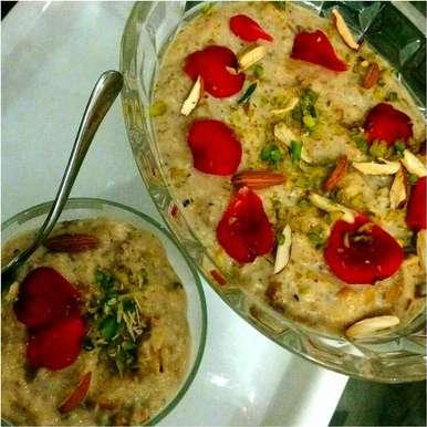 Shahi Rose Dryfruits kheer recipe in Hindi,शाही गुलाब मेवायुक्त खीर, Parul Jain