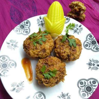 Photo of Maggie aloo stuffed cutlet by Pasumarthi Poojitha at BetterButter