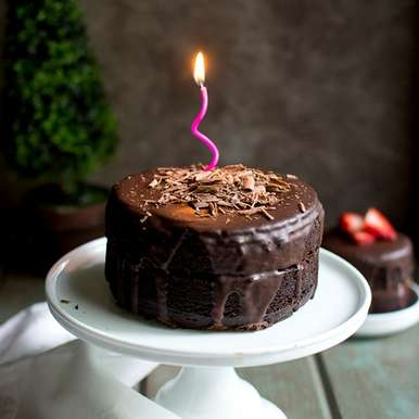 Photo of Chocolate Cake with Chocolate Filling and Ganache by Pavani Nandula at BetterButter
