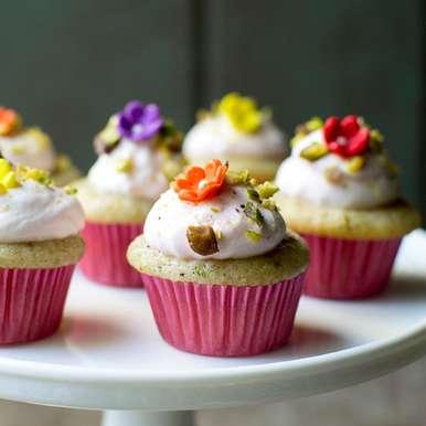 Photo of Pistachio Rosewater Cupcakes by Pavani Nandula at BetterButter