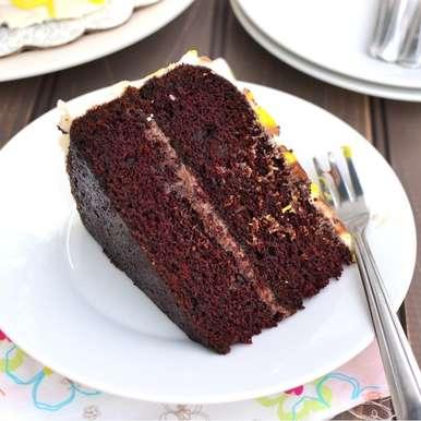 Photo of Eggless Chocolate-Orange Cake by Pavani Nandula at BetterButter