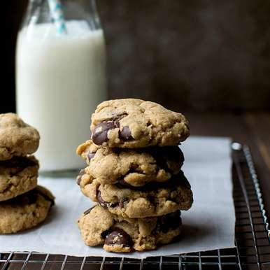 Photo of Wholewheat Chocolate Chip Cookies by Pavani Nandula at BetterButter