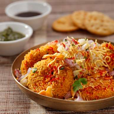 Photo of Air Fryer Dahi Tikki Papdi Chaat by Philips Airfryer at BetterButter