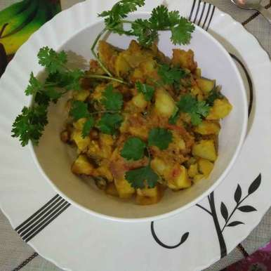 Photo of Coriander potato by piu das at BetterButter