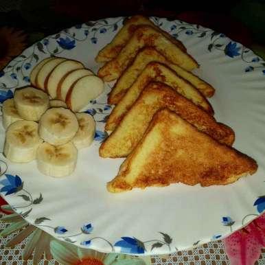 Egg Fruit French Toast recipe in Bengali,এগ্ ফ্রুট ফ্রেন্চ টোস্ট, Piyasi Biswas Mondal