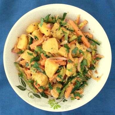 Photo of Aloo Ko Achar / Spicy Potato Salad by Poonam Bachhav at BetterButter