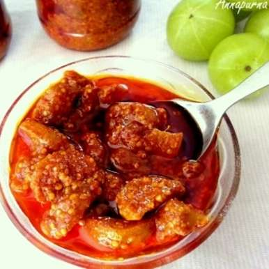 Photo of Amla Pickle / Indian Gooseberry Pickle Recipe by Poonam Bachhav at BetterButter
