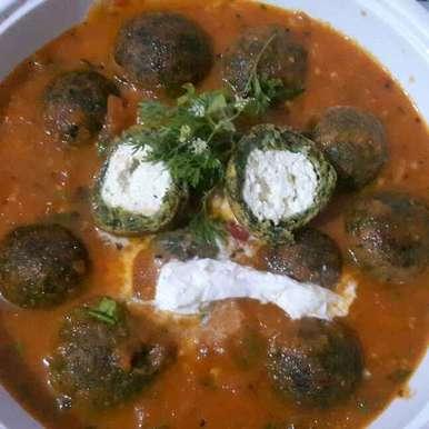 palak paneer tomato curry, How to make palak paneer tomato curry