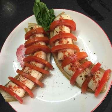 Photo of banana and tomato salad by Poonam Kothari at BetterButter