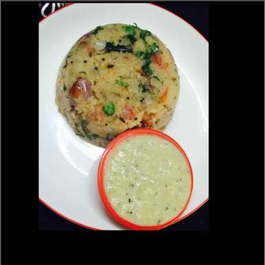 Photo of upma with coconut chutney by Poonam Kothari at BetterButter