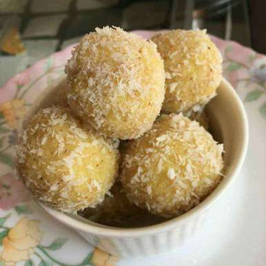 Photo of Almond Coconut Ladoo by Poonam Puri at BetterButter