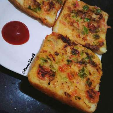 Photo of Veggie Curd toast by Poorva Kamath at BetterButter