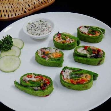 Photo of Spinach Veggie Pinwheels by Prabhleen Kaur at BetterButter