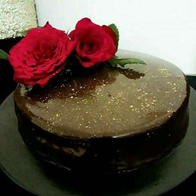 Photo of Eggless Whole Wheat Chocolate Cake with Chocolate Ganache by Prabhleen Kaur at BetterButter