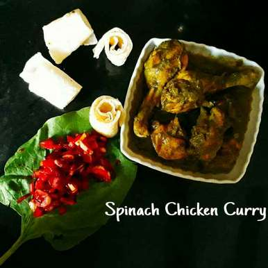 Photo of Spinach Chicken Curry by Prachi Gaddam at BetterButter