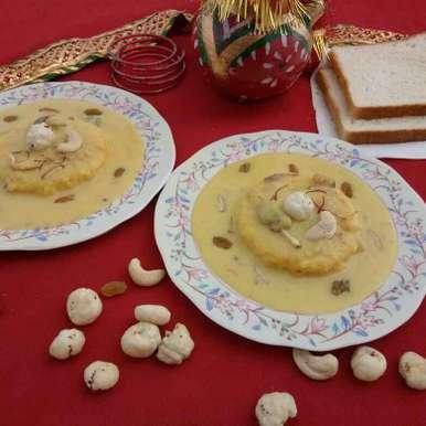 Makhani bread rasmalai recipe in Hindi,मखानी ब्रेड रसमलाई, Prachi Goswami
