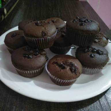 Photo of Choco chips cup cake by Pranali Deshmukh at BetterButter
