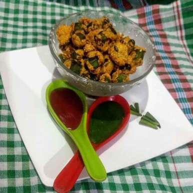 Crispy bhindi pakora  recipe in Hindi,क्रिस्पी भिंडी पकौडा, Pratima Pradeep