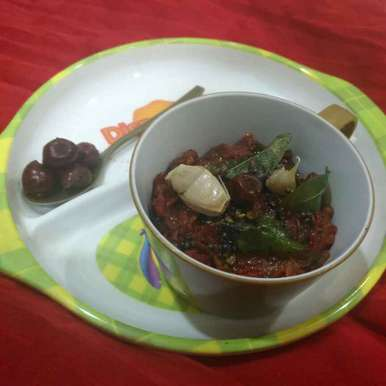 Jujube Redchilli Pickle recipe in Telugu,రేగిపండు పండుమిర్చి తొక్కు పచ్చడి, Pravallika Srinivas