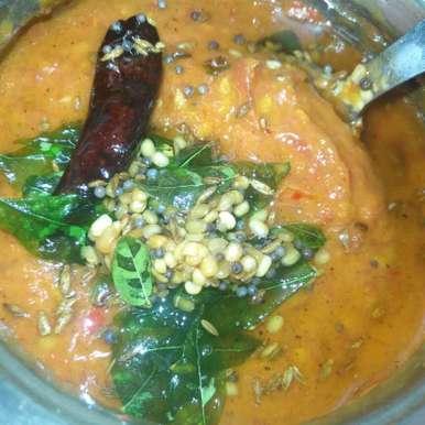 Tomato Red Chilli Chutney recipe in Telugu,టమాటో పండుమిర్చి చట్నీ , Pravallika Srinivas