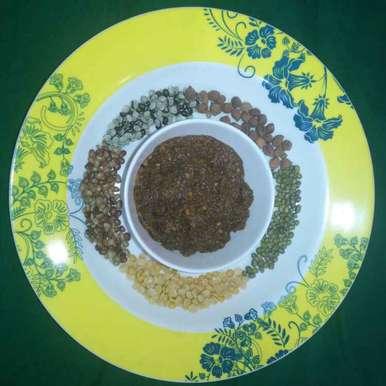 Mixed whole grain chutney recipe in Telugu,కలయ పప్పుల పచ్చడి, Pravallika Srinivas