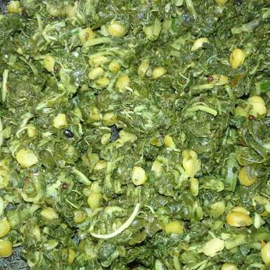 Amaranthus dry curry recipe in Telugu,తోటకూర శనగపప్పు ముద్ద కూర, Pravallika Srinivas