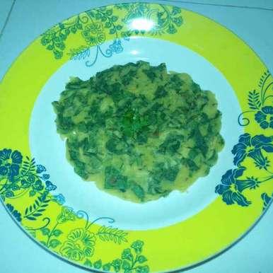 Spinach chickpea flour pancake recipe in Telugu,పాలకూర శనగపిండి దోసె (పాలక్ బేసన్ చీల), Pravallika Srinivas