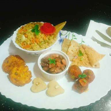 Photo of vegetarian Protein Platter by Pravallika Srinivas at BetterButter