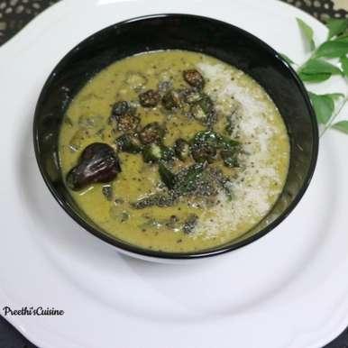 Photo of Bendekayi Gojju /Okra in Coconut Curry by Preethi Prasad at BetterButter