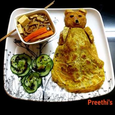 Photo of RILAKKUMA OMURICE  (ONION KETCHUP RICE) by Preethi TK at BetterButter