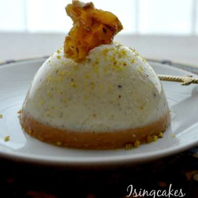 Photo of Coconut kheer and Caramel Pana cotta with pistachio praline by Preeti Deo at BetterButter