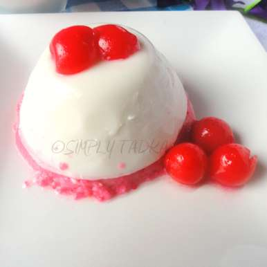 Photo of Coconut and Cherry Layered Panna Cotta by Preeti Garg at BetterButter