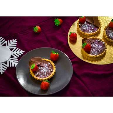 Photo of Choco Coco Tart by Pritha Chakraborty at BetterButter