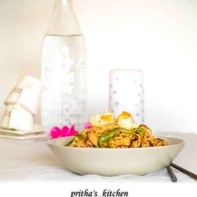 Photo of Fried chicken maggi by Pritha Chakraborty at BetterButter