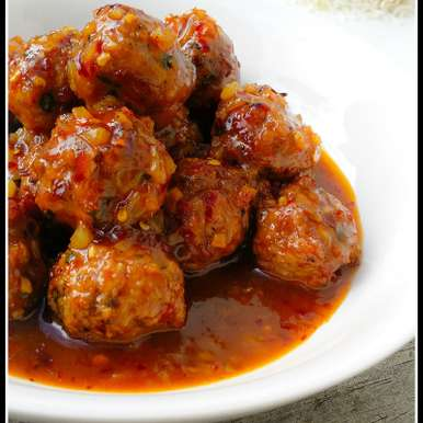 Photo of Baked Chicken Meatballs in Spicy Orange Sauce by Priti Shetty Naiga at BetterButter